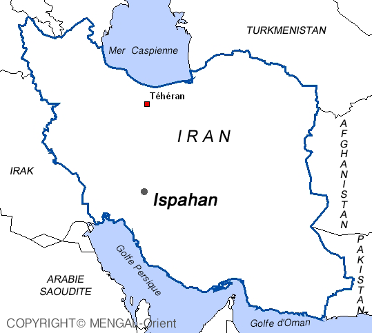 Map Ispahan Iran
