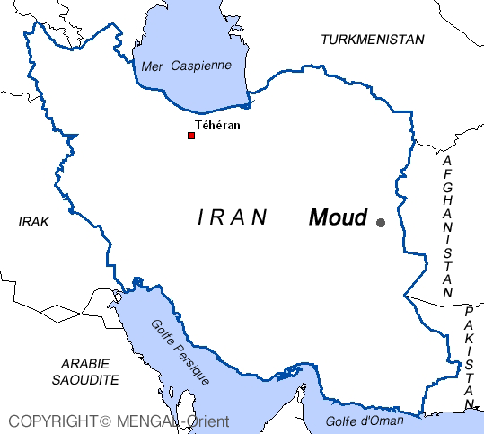 Map of Moud Iran