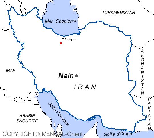 Map Nain Iran