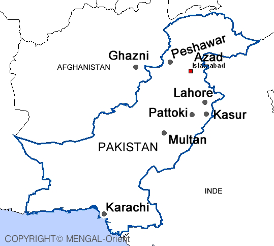 Carte Pakistan