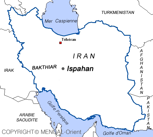 Map of Bakthiar Iran
