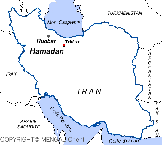 Map of Roudbar IRAN
