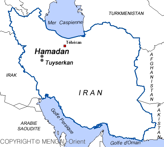 Map of Tuiserkan-Iran