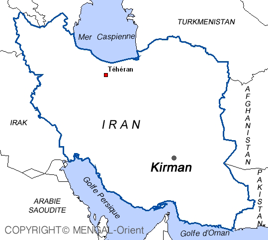 Map of Kirman