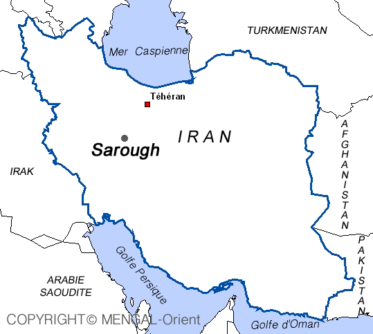 Kaart van Sarough Iran