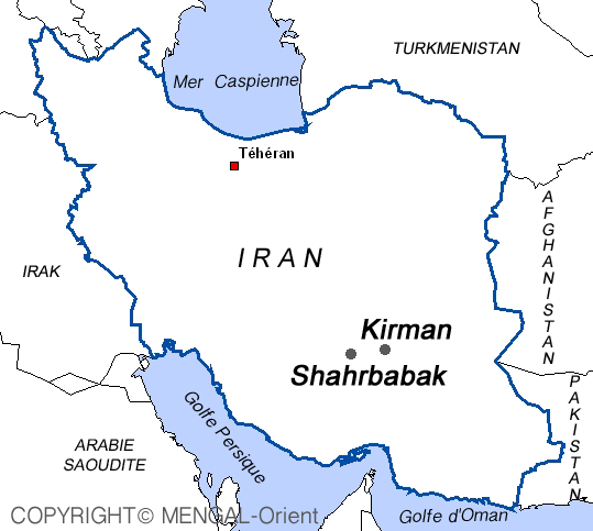 Map of Shahrbabak