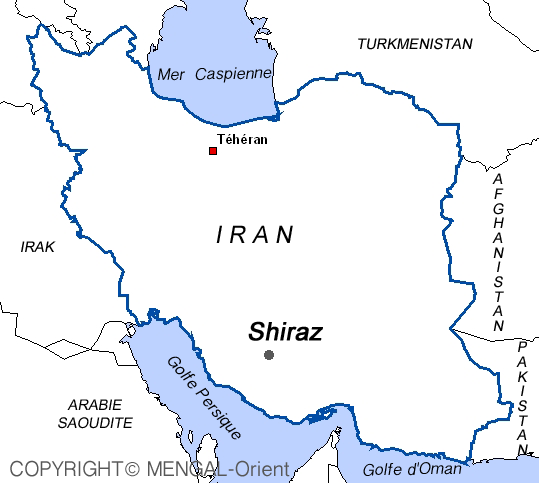 Map of Shiraz Iran