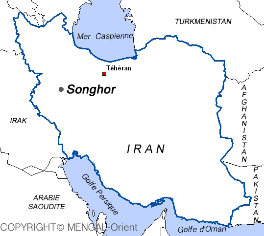 Map of Songhor Iran