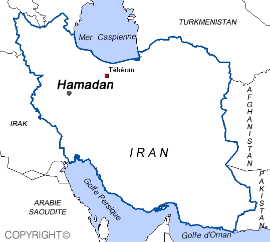 Map of Hamedan