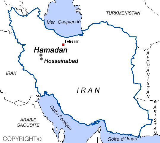 Map of Hosseinabad Iran