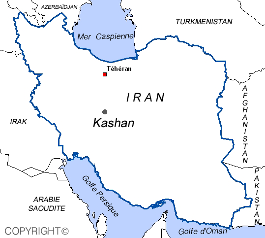 map of Kashan Iran