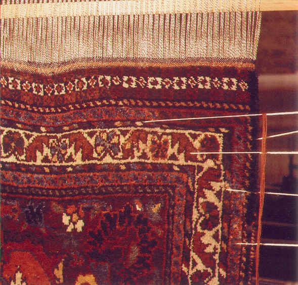 After restoration of oriental carpet
