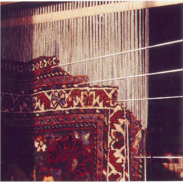 Before restoration of oriental carpet
