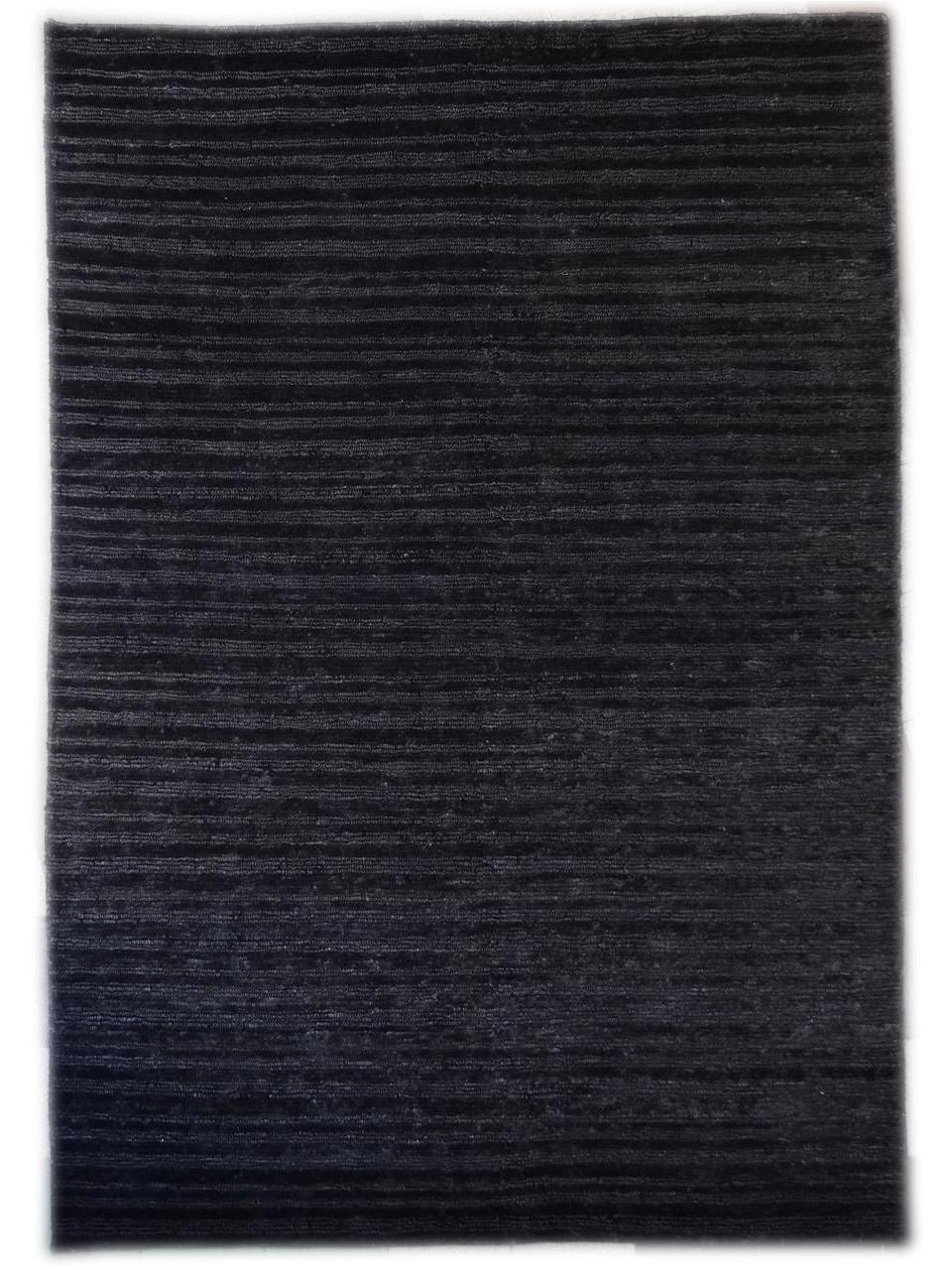 tapis unis chanvre noir - Tapis Noir