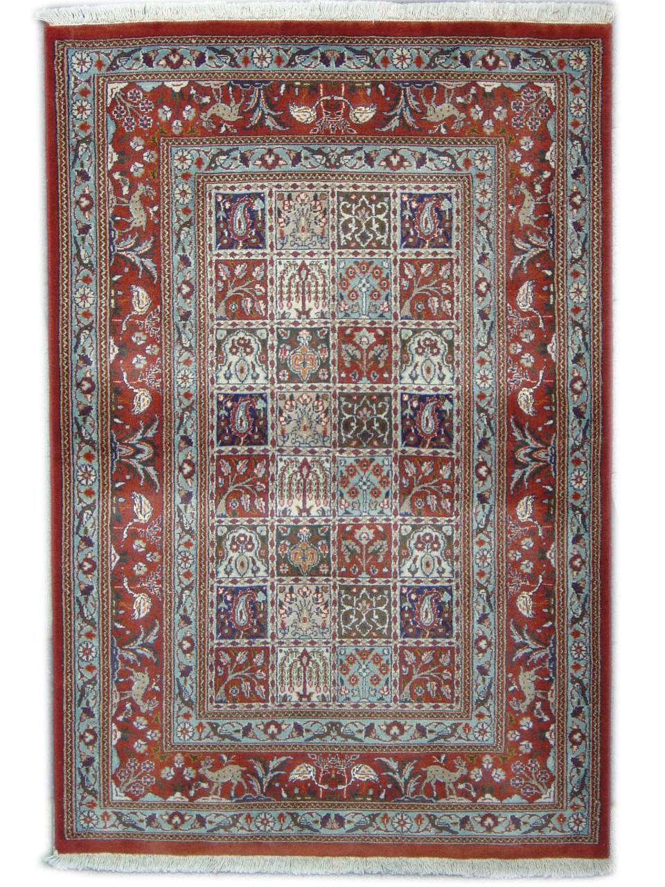 moud jardin tapis persans n 10783 150x102cm. Black Bedroom Furniture Sets. Home Design Ideas
