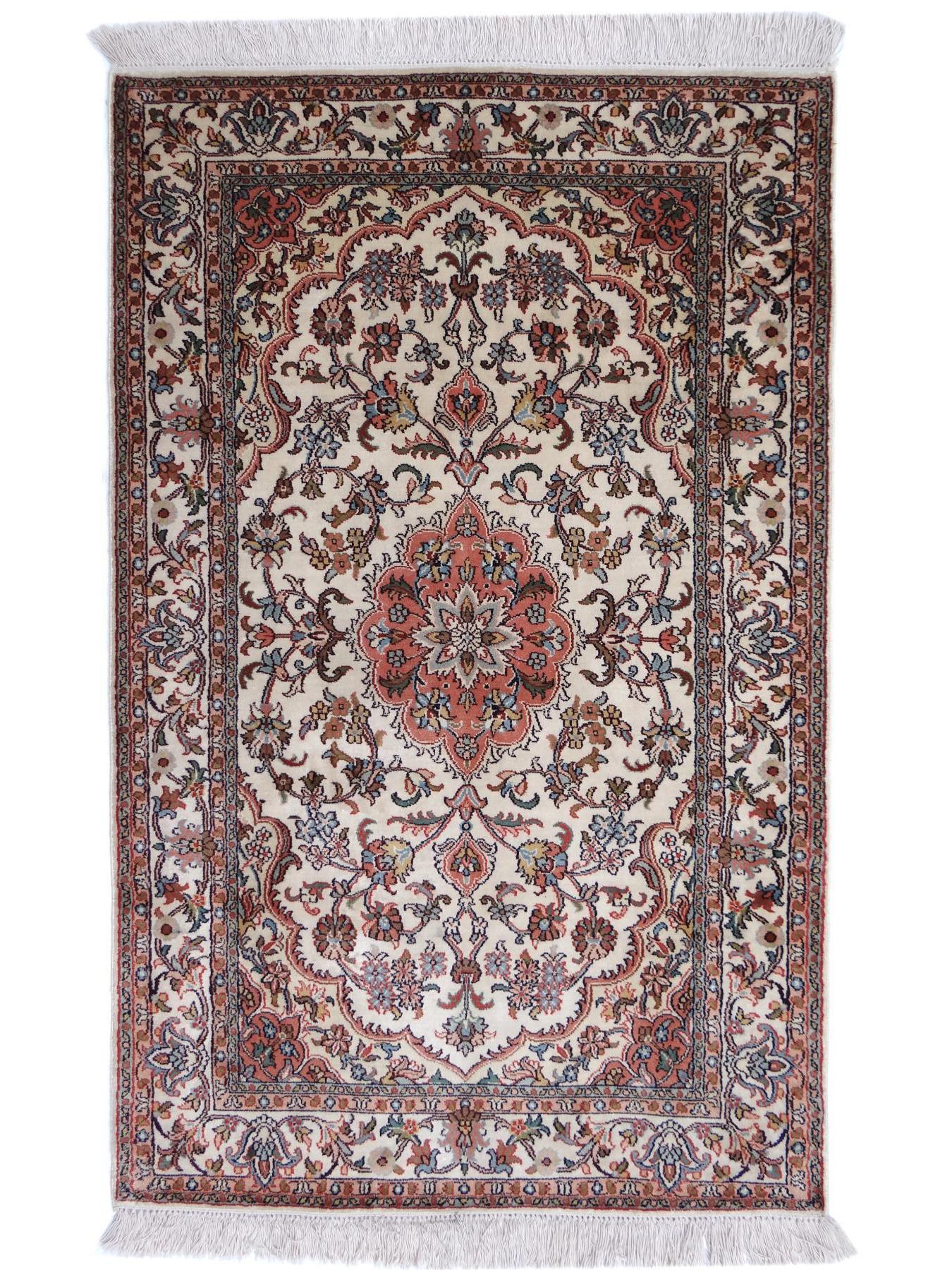 Srinagar Soie Fin Tapis Prestigieux N 2307 122x78cm