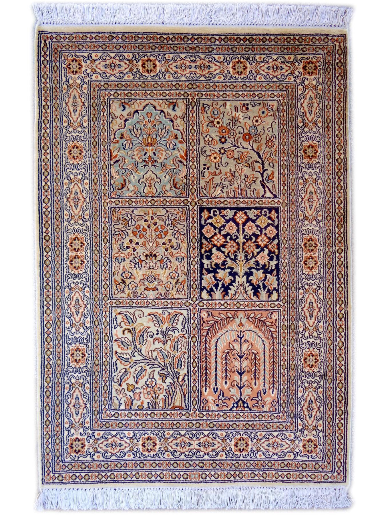 srinagar soie jardin tapis prestigieux n 2489 90x63cm. Black Bedroom Furniture Sets. Home Design Ideas