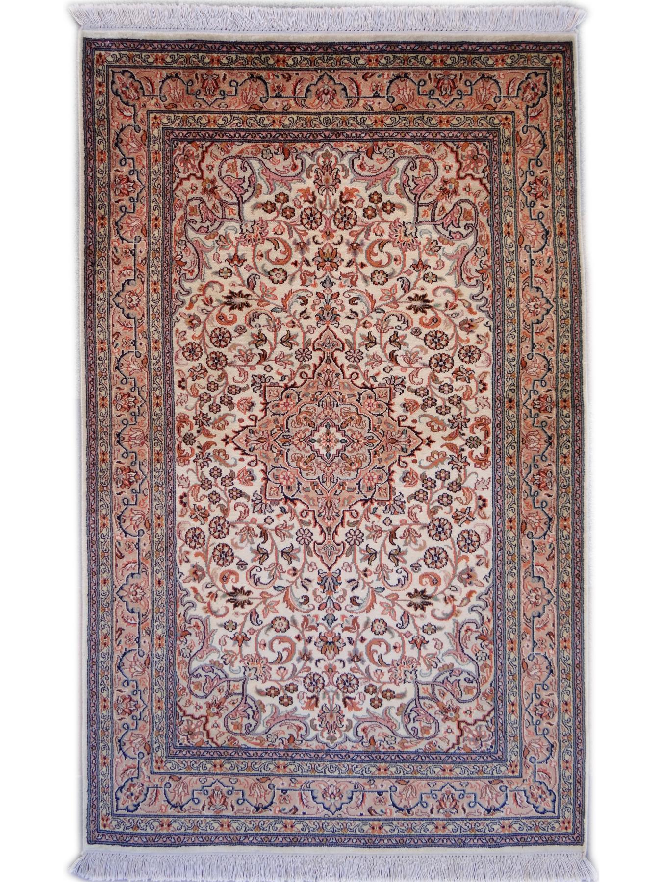 Srinagar Soie Fin Tapis Prestigieux N 26329 130x80cm