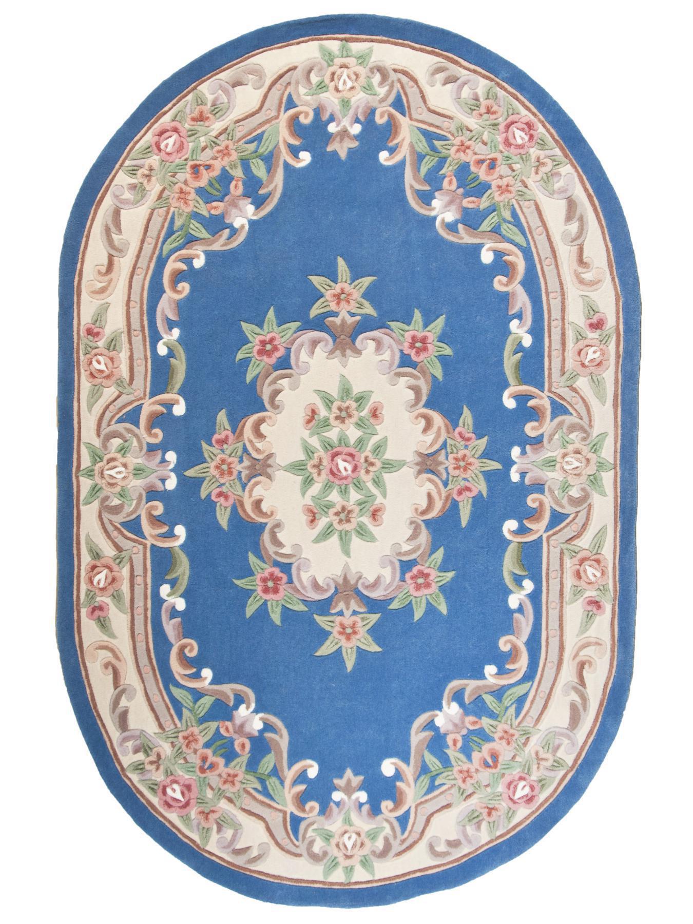 Aubusson Bleu Tapis Chinois N 176 32291 290x190cm