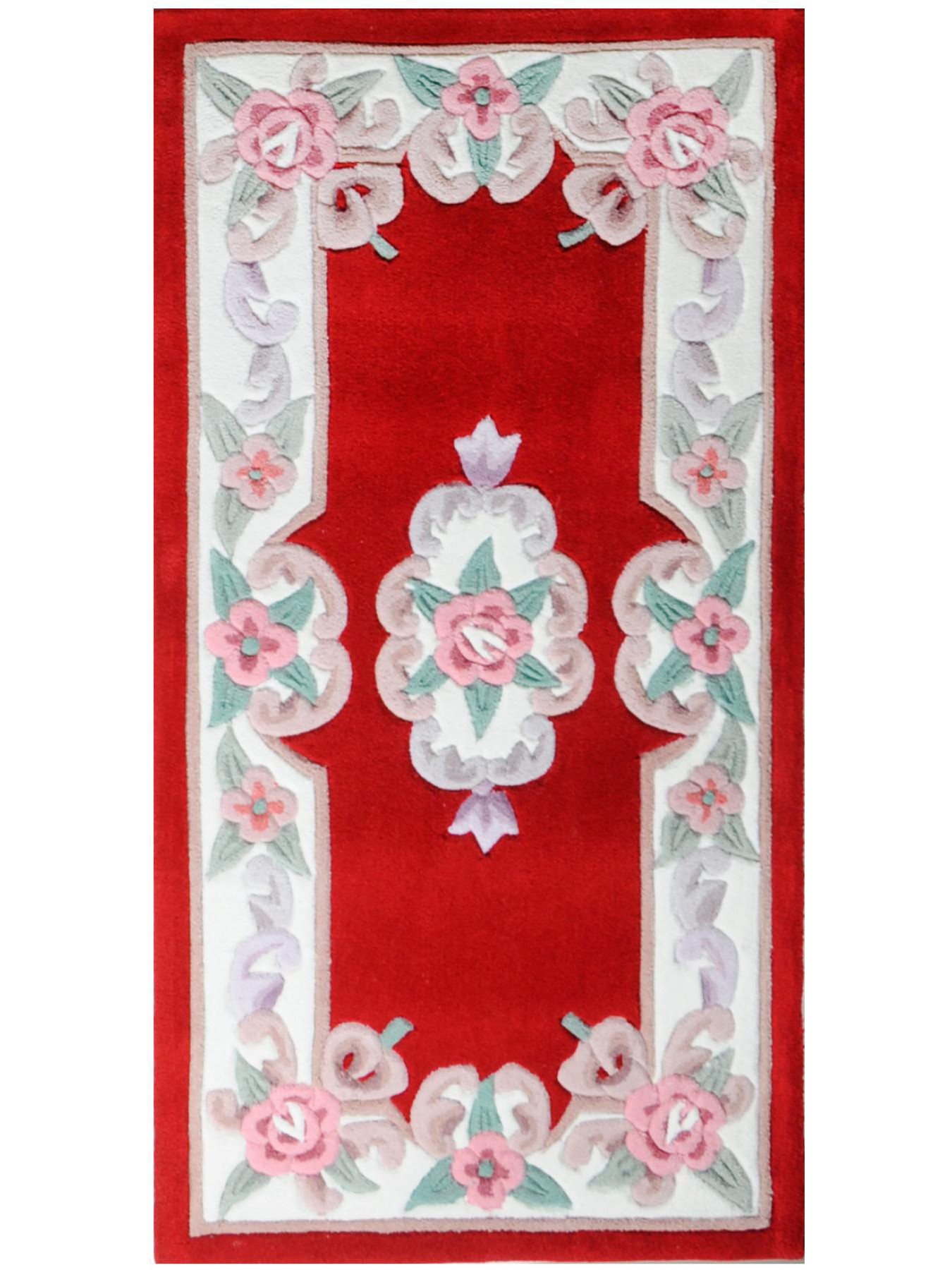 aubusson rouge tapis chinois n 32294 140x70cm. Black Bedroom Furniture Sets. Home Design Ideas