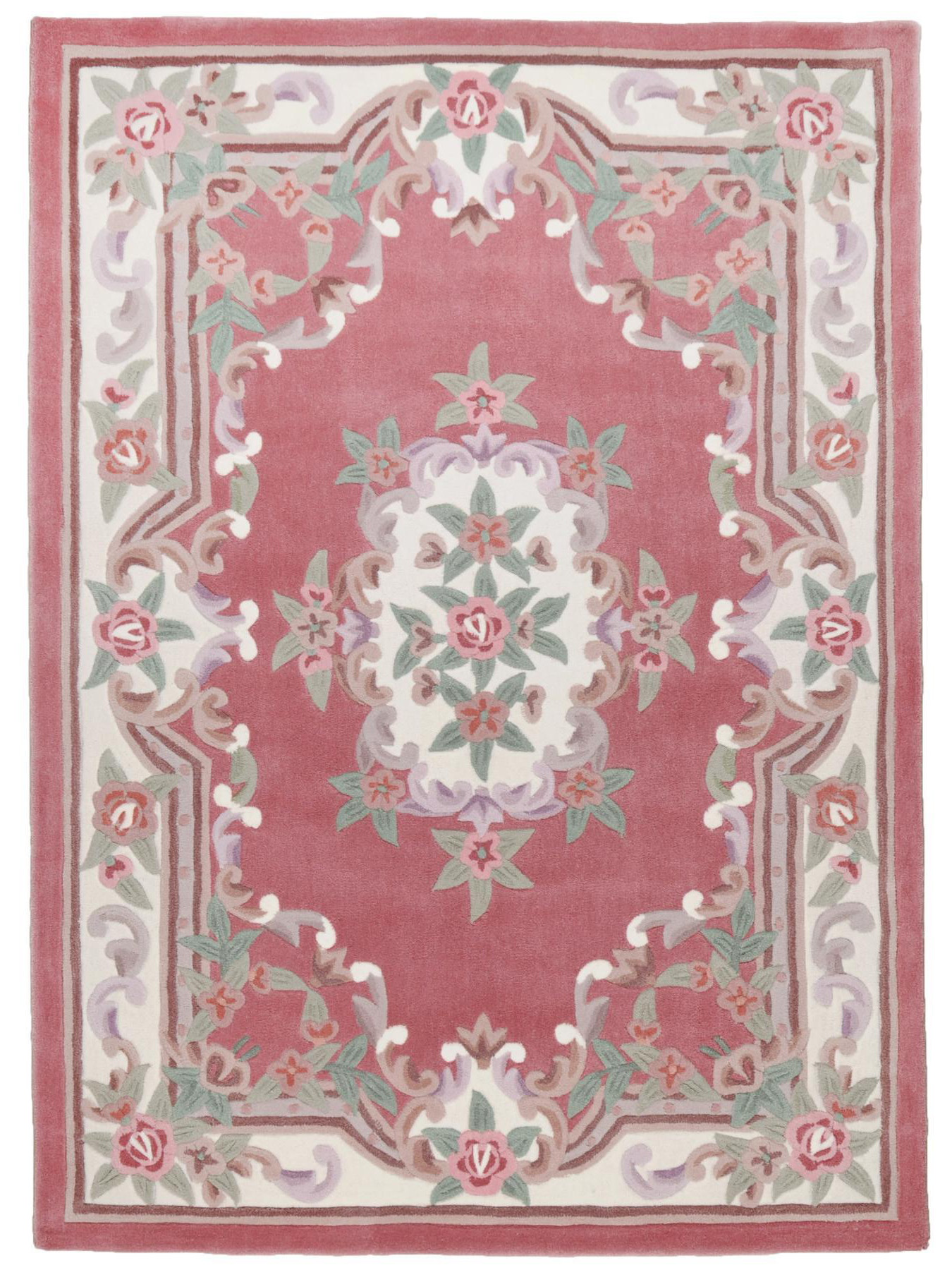 aubusson rose tapis chinois n 32316 290x190cm. Black Bedroom Furniture Sets. Home Design Ideas
