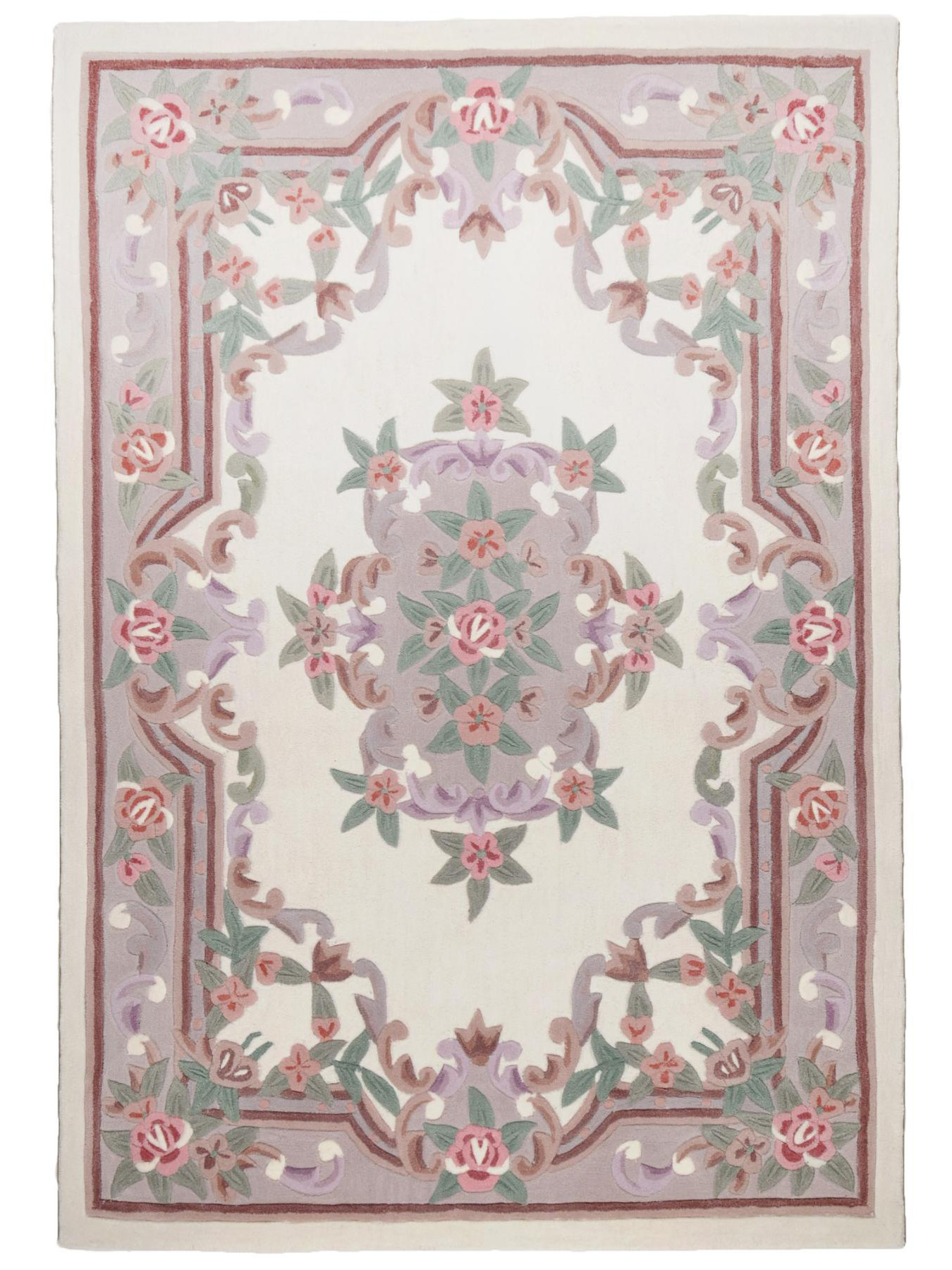 aubusson beige tapis chinois n 32322 150x100cm. Black Bedroom Furniture Sets. Home Design Ideas