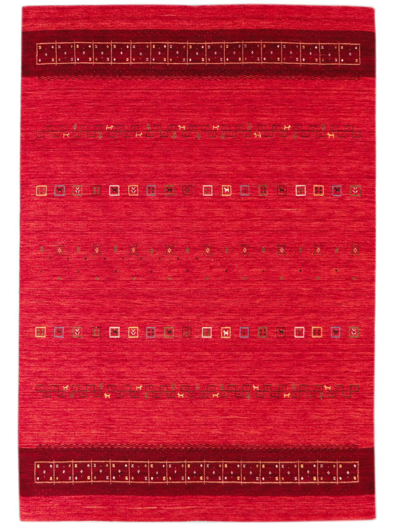 Tapis ethniques - Lori-Dream-Gold rouge