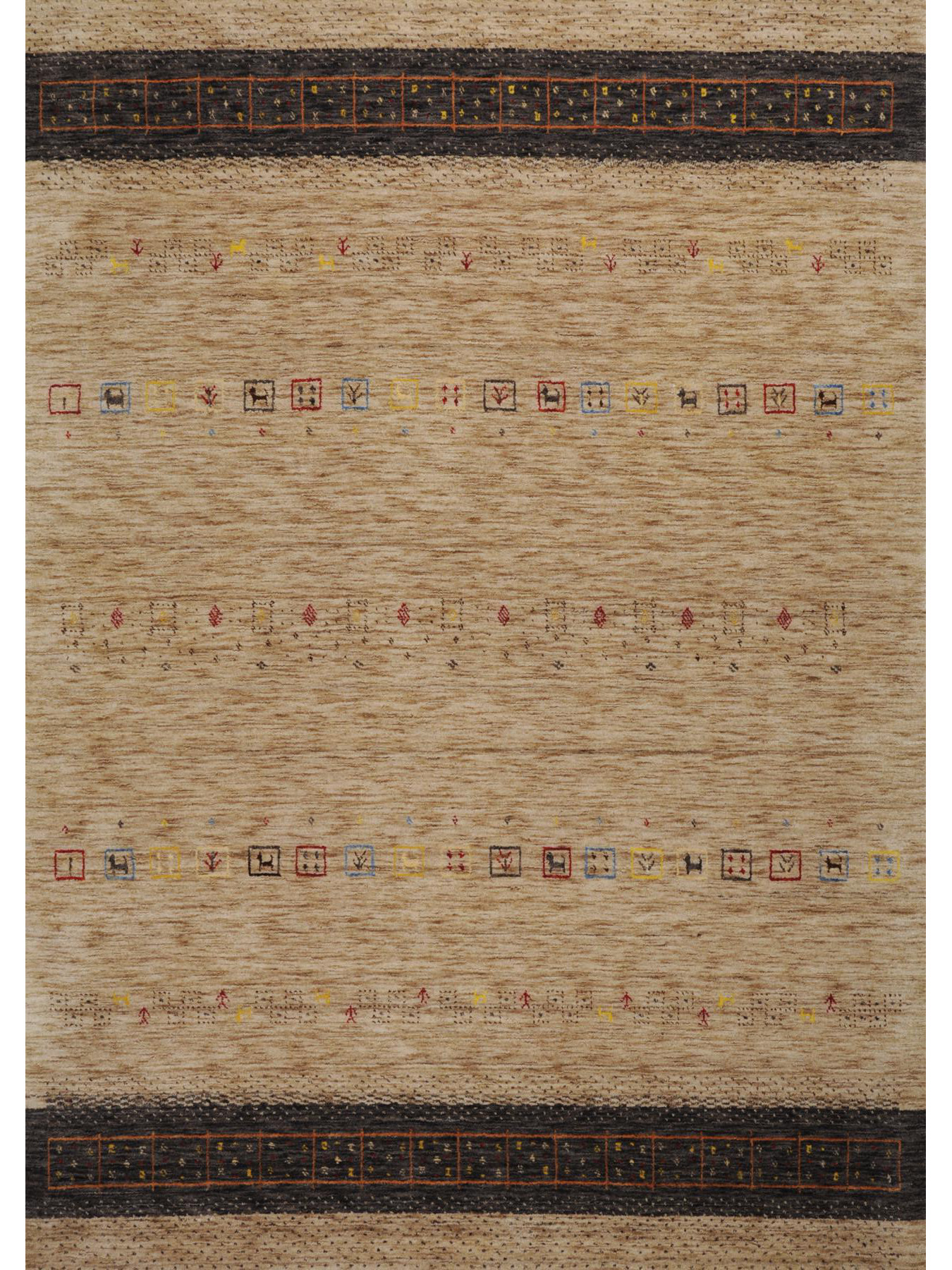 Ethnic carpets - Lori-Dream-Gold light-brown