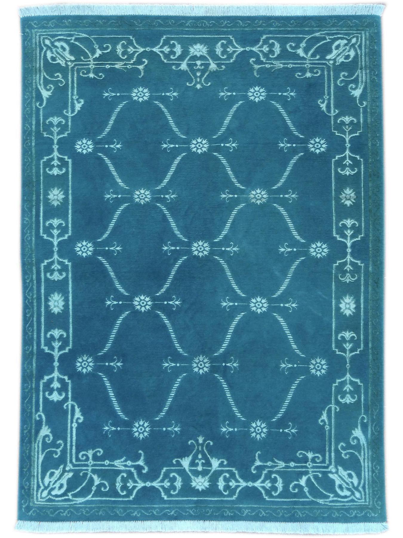 Luxury tapijten - CARTOUCHES - S2522 TURQOISE