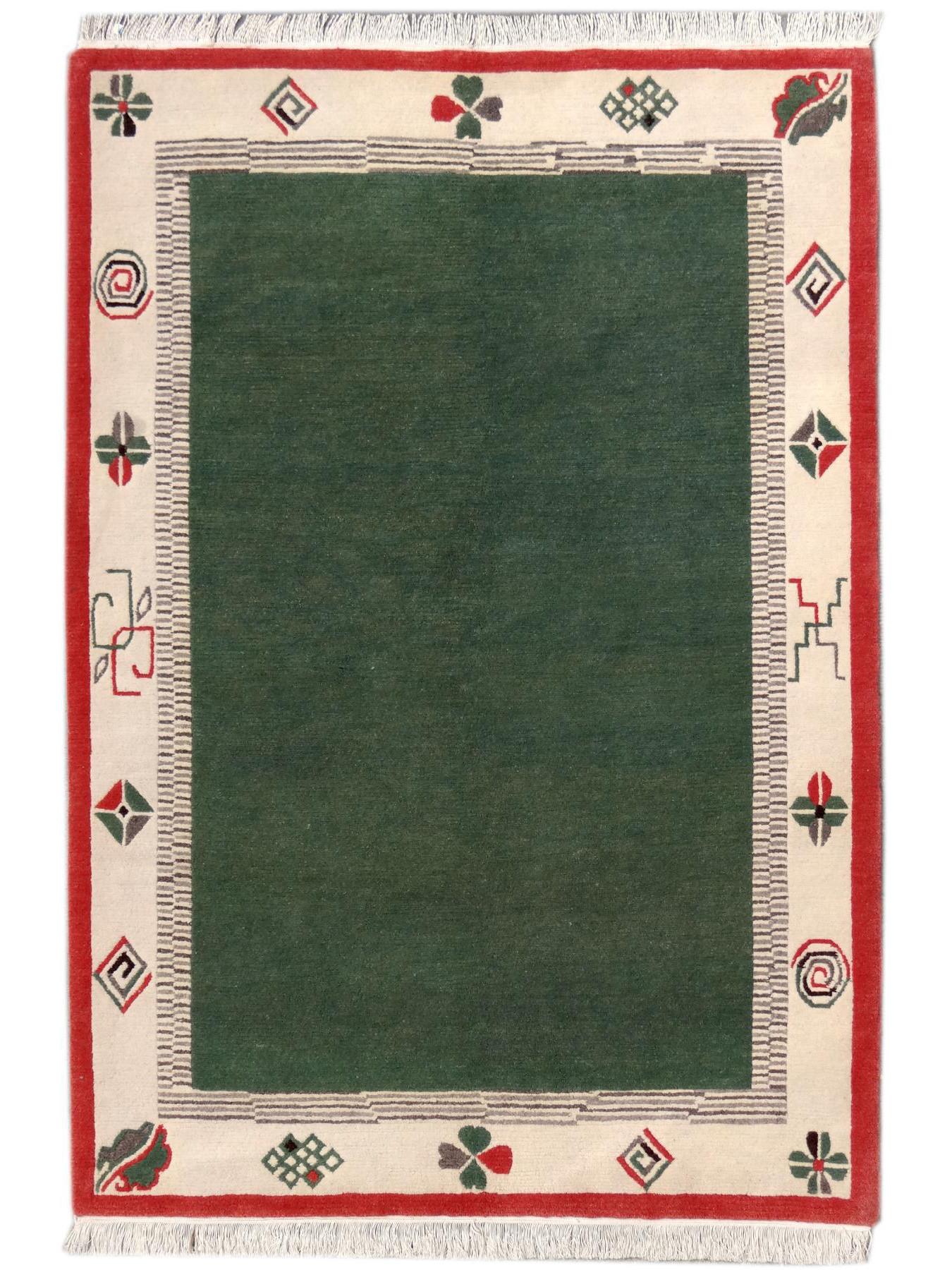 Carpets with borders - KHUKRI PUR NATUR