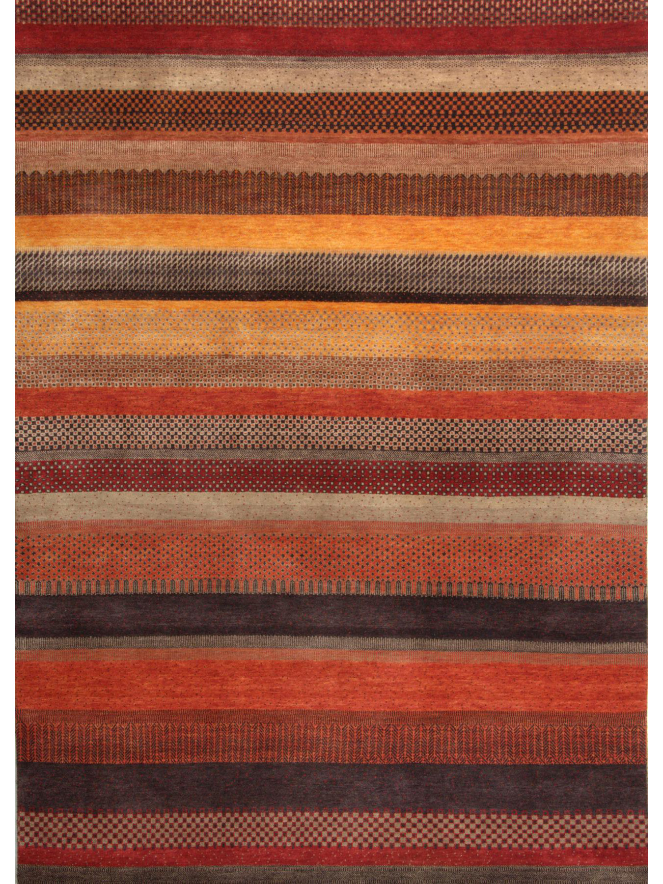 Etnische tapijten - Hindustan-Hali-1025 terra-multi