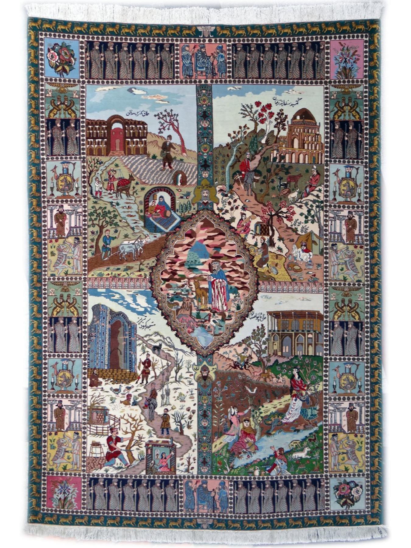 Tabriz 4 Saisons Tapis Prestigieux N 1155 295x204cm
