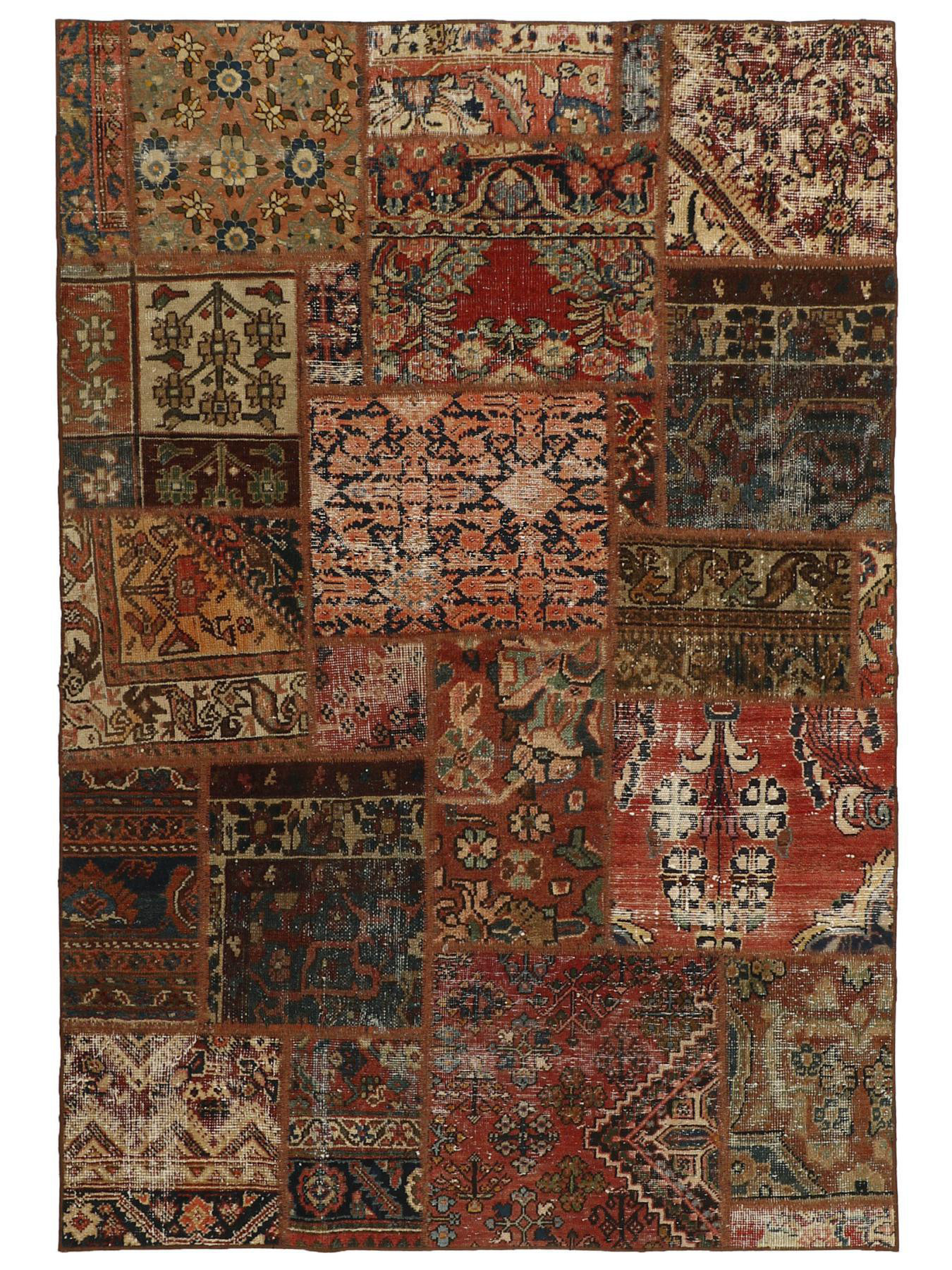 Perzische tapijten - Vintage Persian Royal Patchwork Malayer