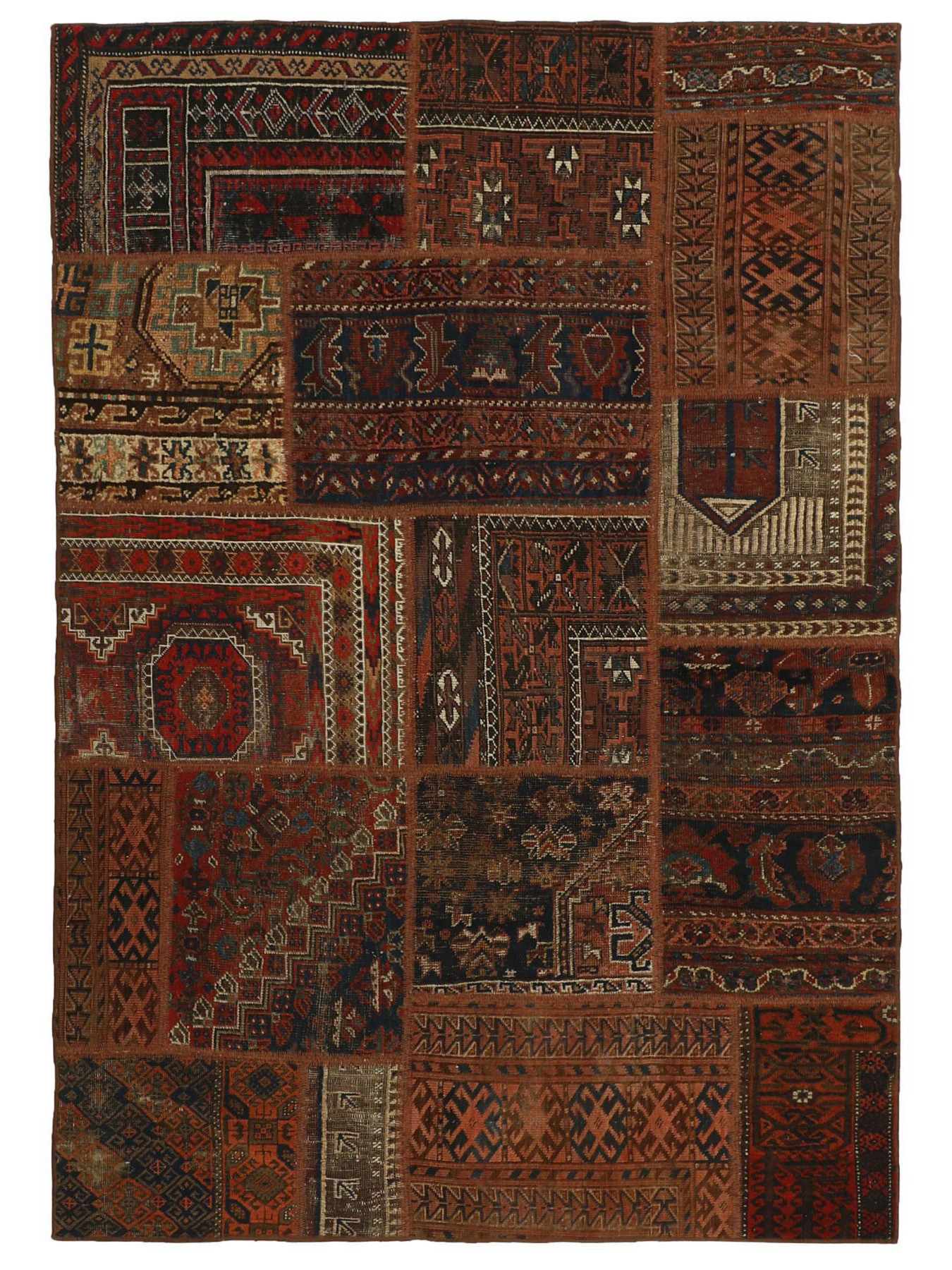 Persian carpets - Vintage Persian Royal Patchwork Malayer