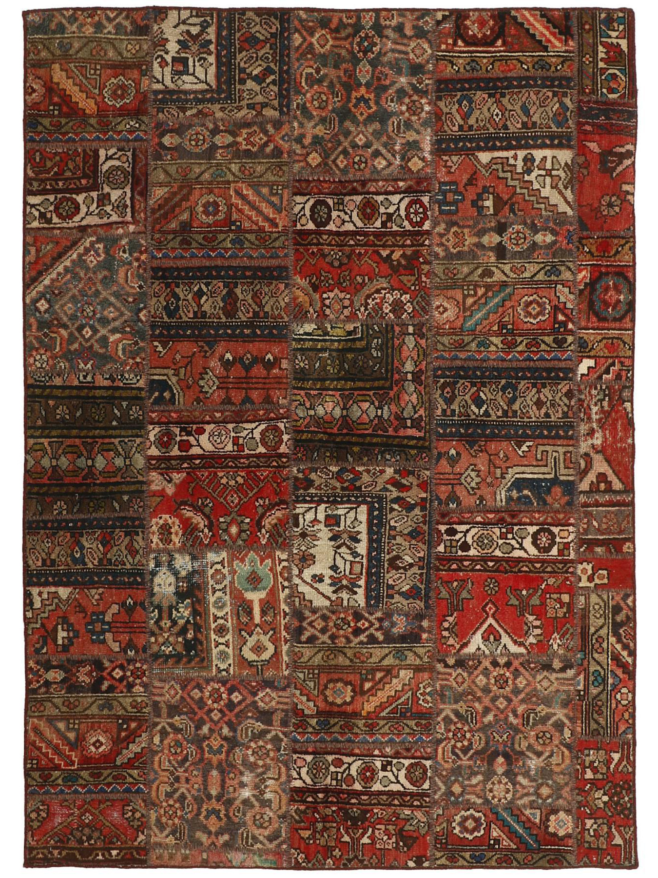Tapis persans - Vintage Persian Royal Patchwork Malayer