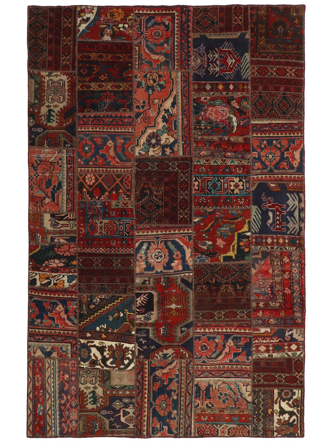 Tapis persans - Vintage Persian Royal Patchwork Malayer