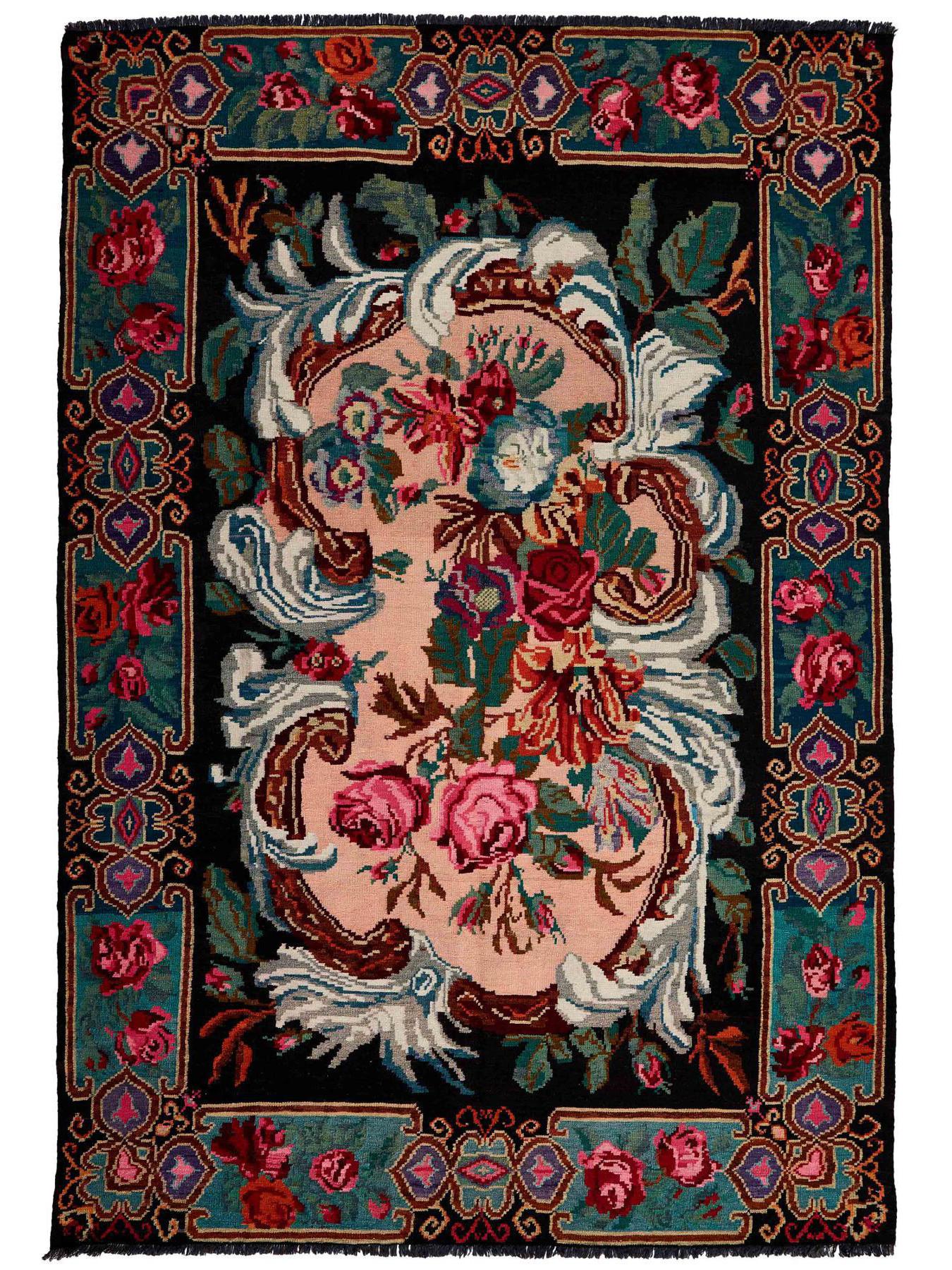Kilims traditionnels - Kilim Floral Roses Old