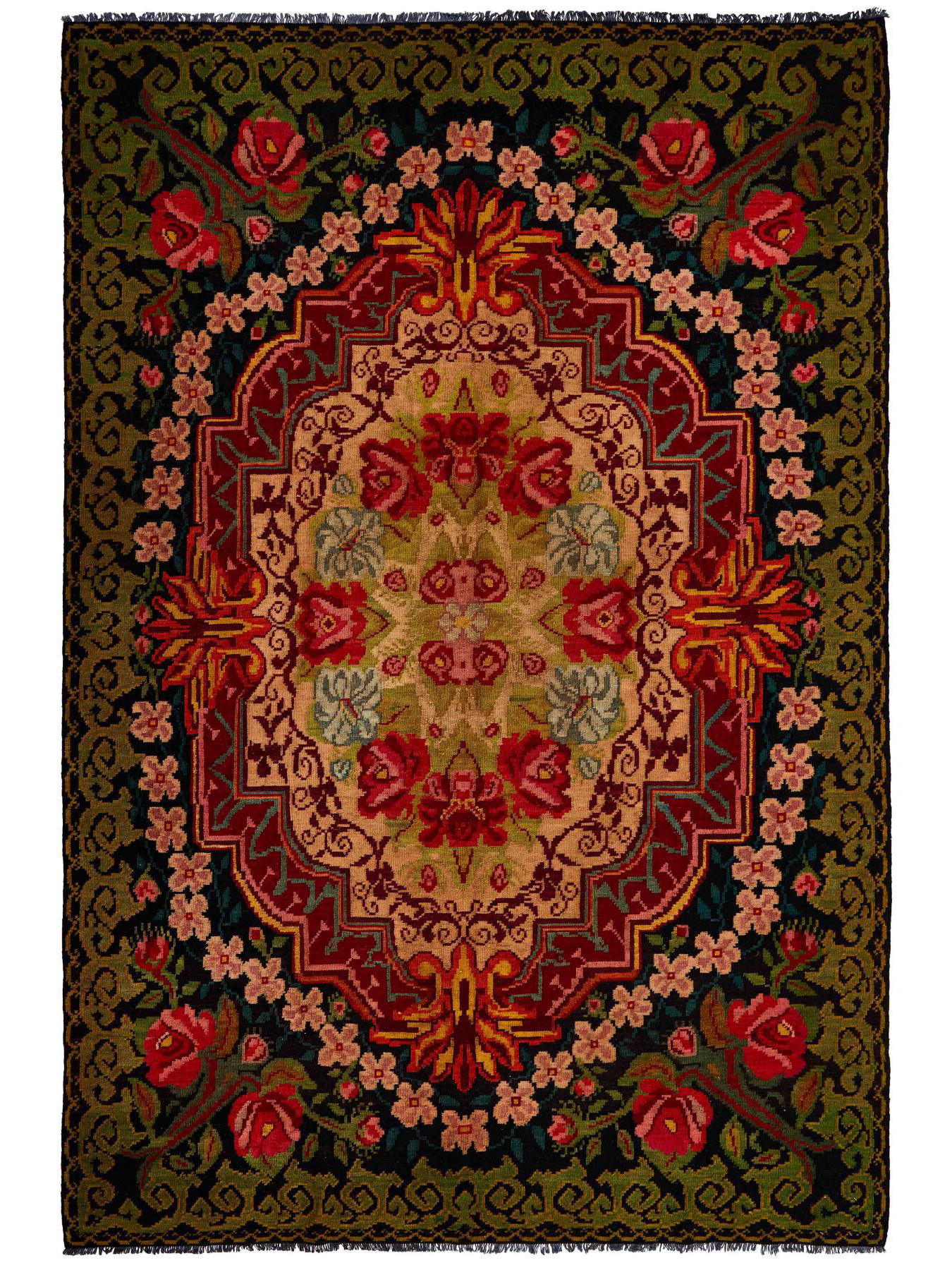 Kilims traditionnels - Kilim Floral Roses Old