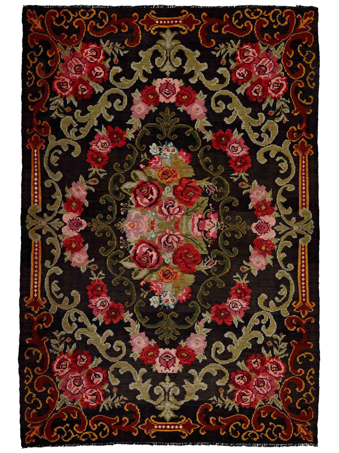Traditional kilims - Rose Kilim Old
