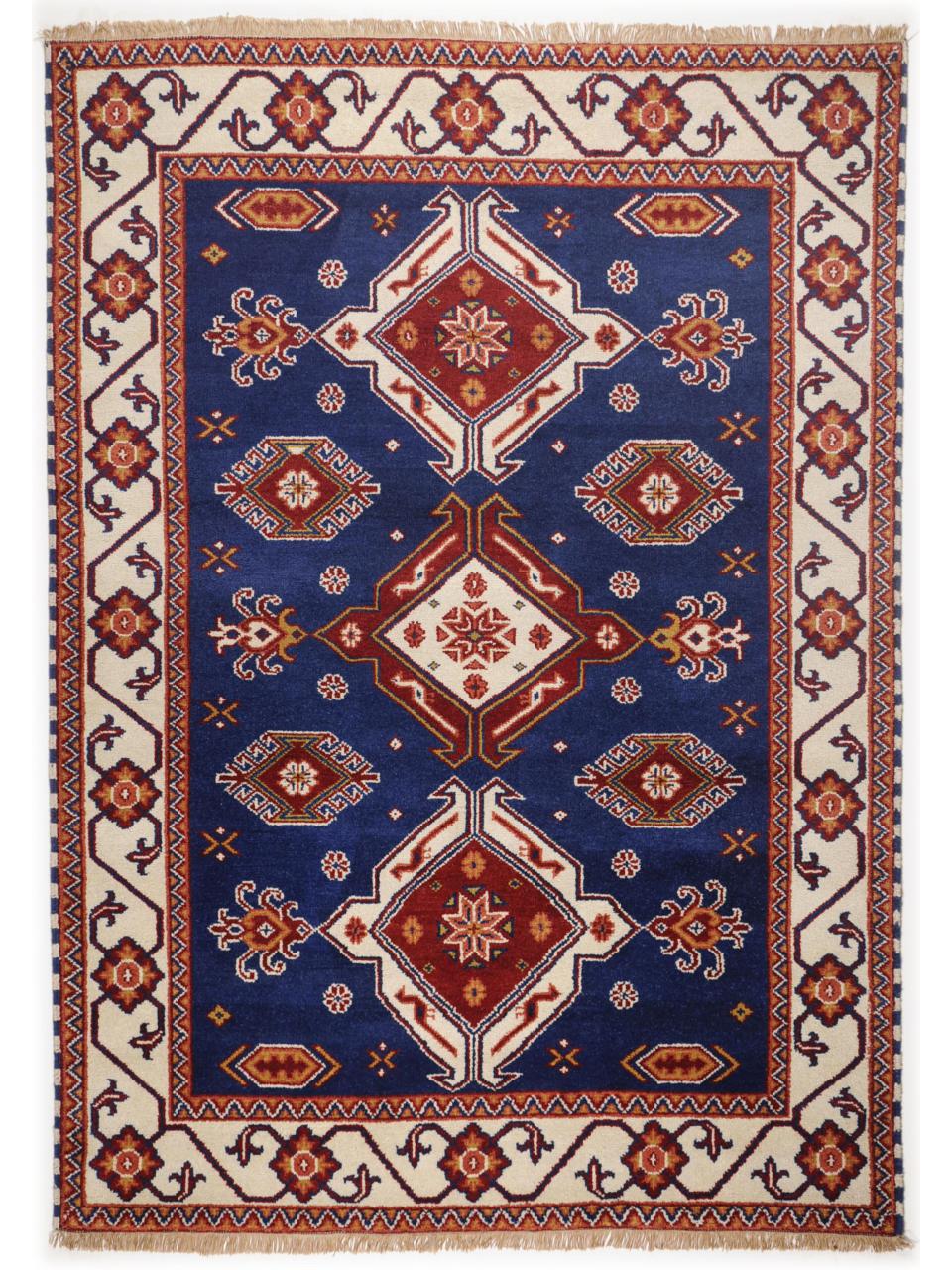 imp rial kazak bleu tapis classiques n 2018 270x70cm. Black Bedroom Furniture Sets. Home Design Ideas