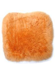 Cushions in sheepskin - Caresse-cushion sheepskin orange