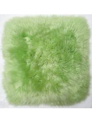 Cushions in sheepskin - Caresse-cushion sheepskin green