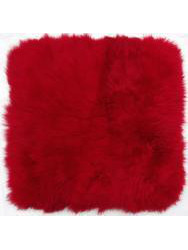 Cushions in sheepskin - Caresse-cushion sheepskin red