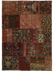 Vintage Persian Royal Patchwork Malayer