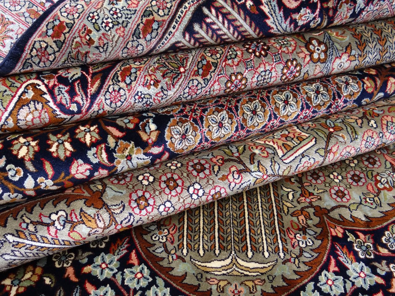 srinagar soie extra fin tapis prestigieux n 1443 374x277cm. Black Bedroom Furniture Sets. Home Design Ideas