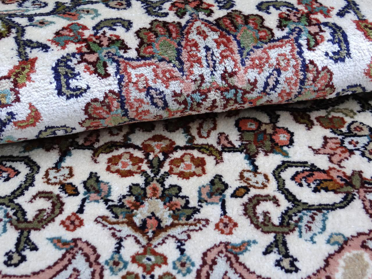 srinagar soie fin tapis prestigieux n 2336 99x65cm. Black Bedroom Furniture Sets. Home Design Ideas