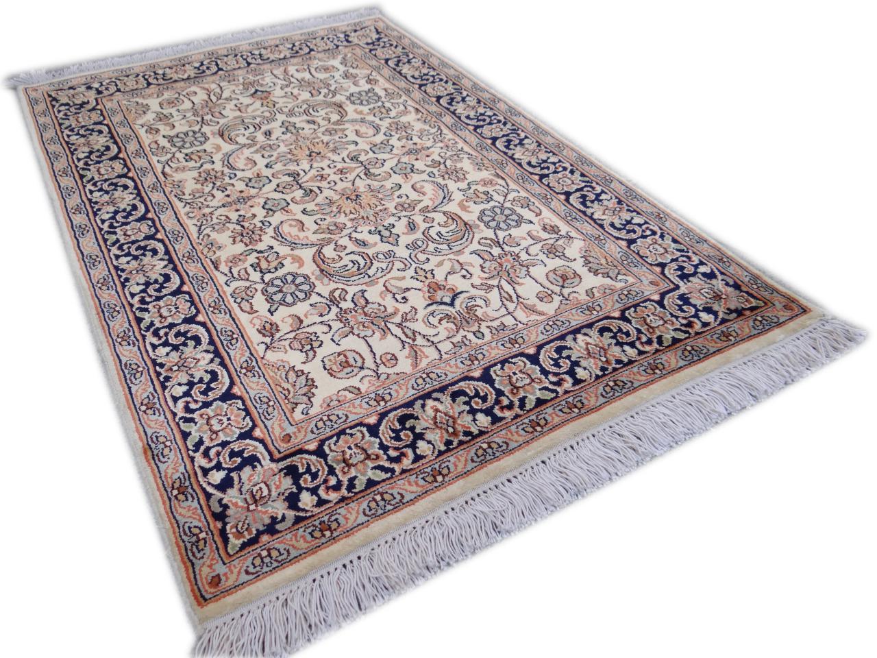 srinagar soie fin tapis prestigieux n 2565 94x61cm. Black Bedroom Furniture Sets. Home Design Ideas