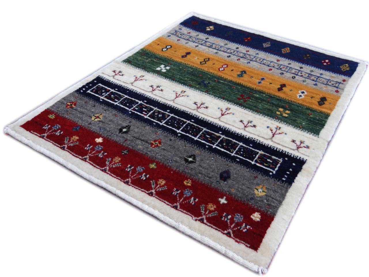 Gabbeh fijn etnische tapijten n 2546 80x64cm - Etnische pouf ...