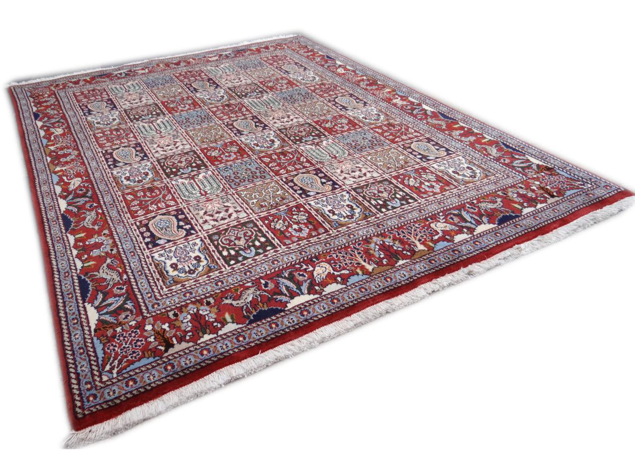 moud jardin tapis persans n 2499 195x146cm. Black Bedroom Furniture Sets. Home Design Ideas