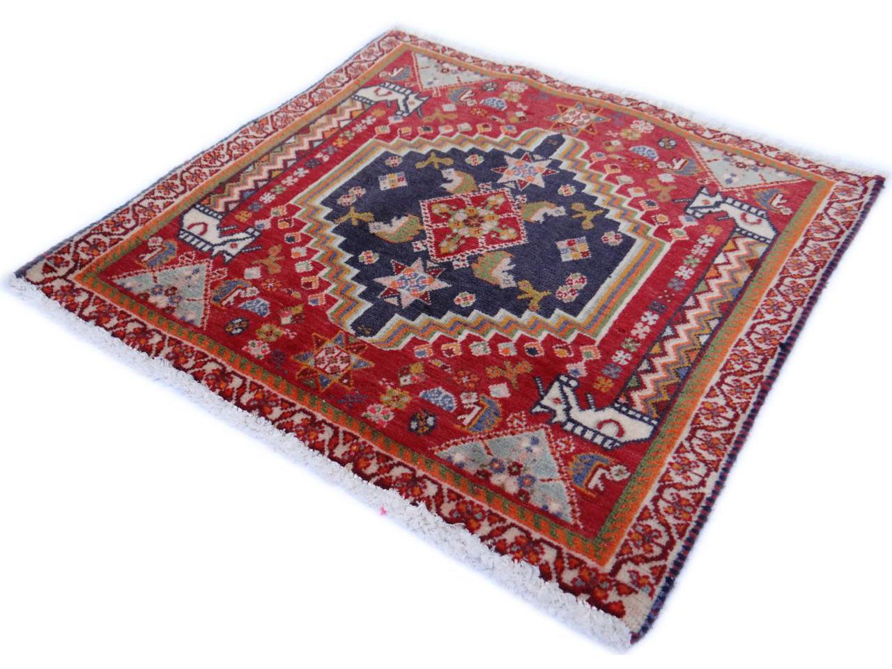 gashgai fin tapis persans n 2369 58x54cm. Black Bedroom Furniture Sets. Home Design Ideas